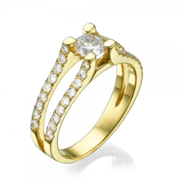 טבעת אירוסין מרשימה אליוטה