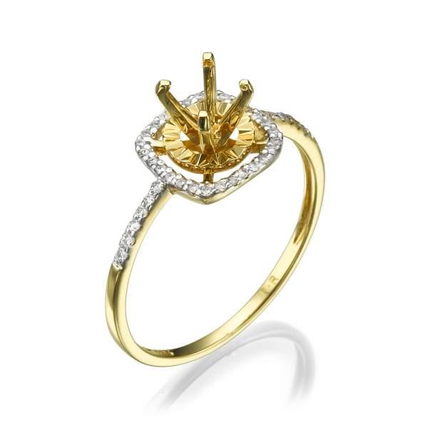 טבעת אירוסין מרשימה יהלום השחר