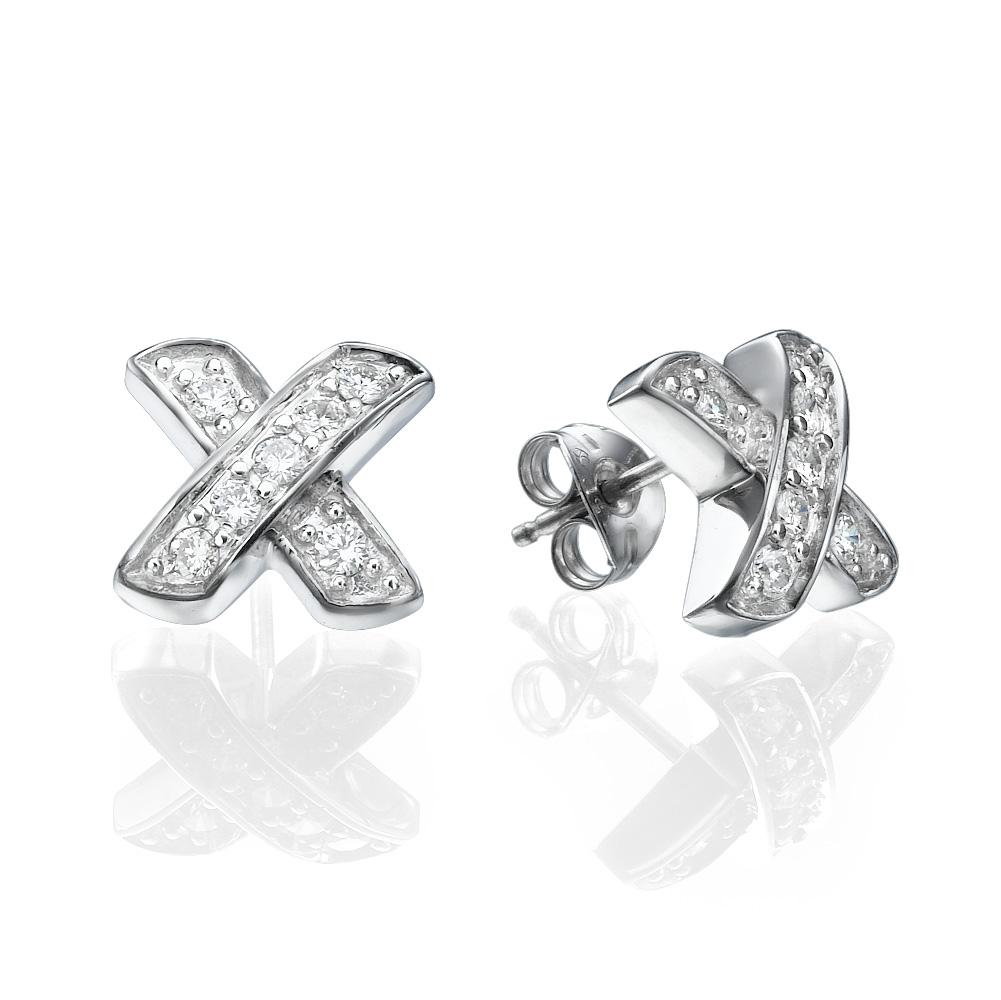 עגילי יהלומים איקסים