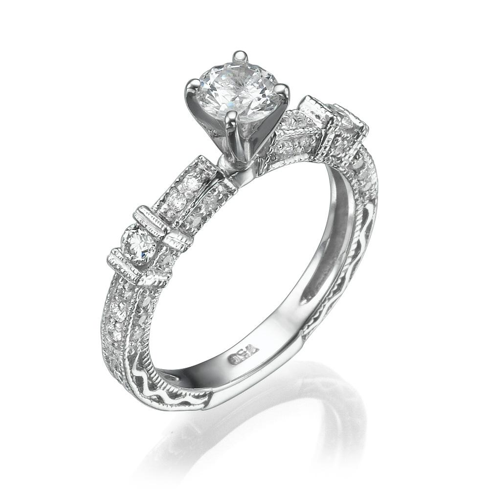 טבעת יהלומים מלכותית ויקטוריה