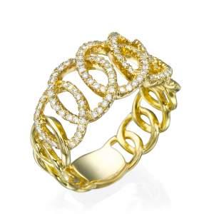טבעת יהלומים חישוקי האהבה