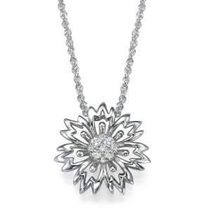 תליון יהלומים חמניה