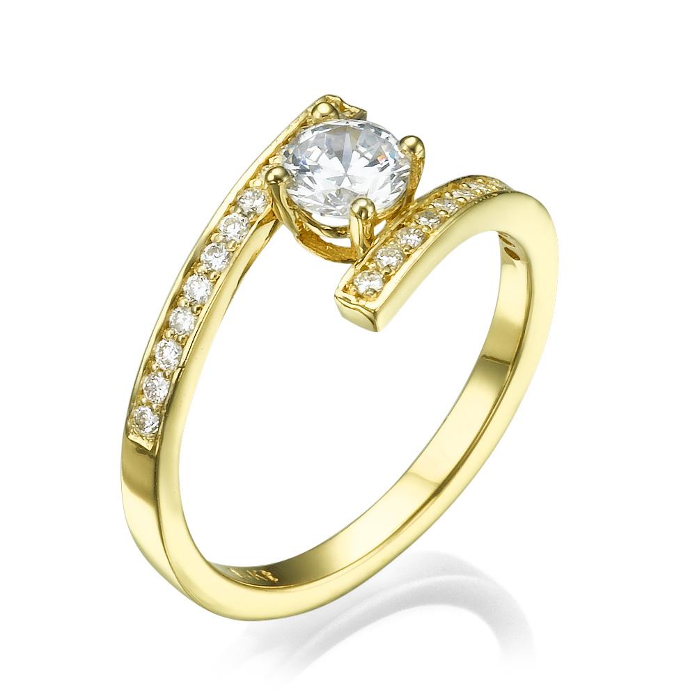 טבעת אירוסין מיוחדת איב