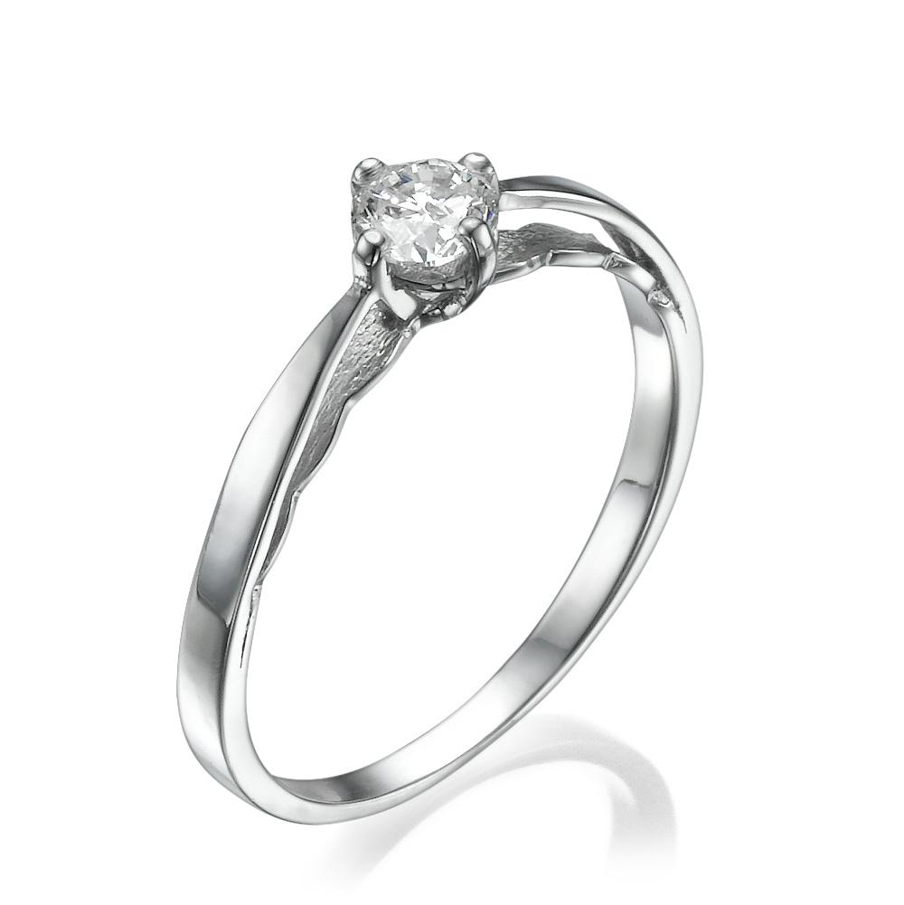 טבעת אירוסין עדינה תחרה לבנה