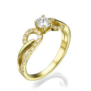 טבעת אירוסין מעוצבת גאיה