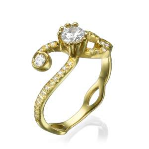 טבעת אירוסין מעוצבת בל