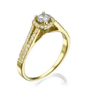 טבעת אירוסין מיוחדת שרלוט