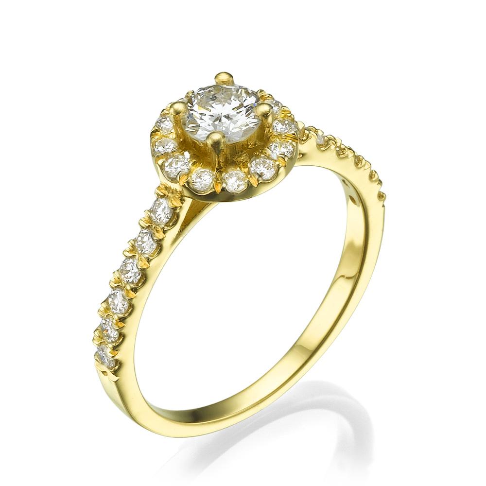 טבעת אירוסין נצנוצי יהלומים