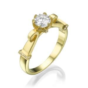 טבעת יהלומים מלכותית איזבלה
