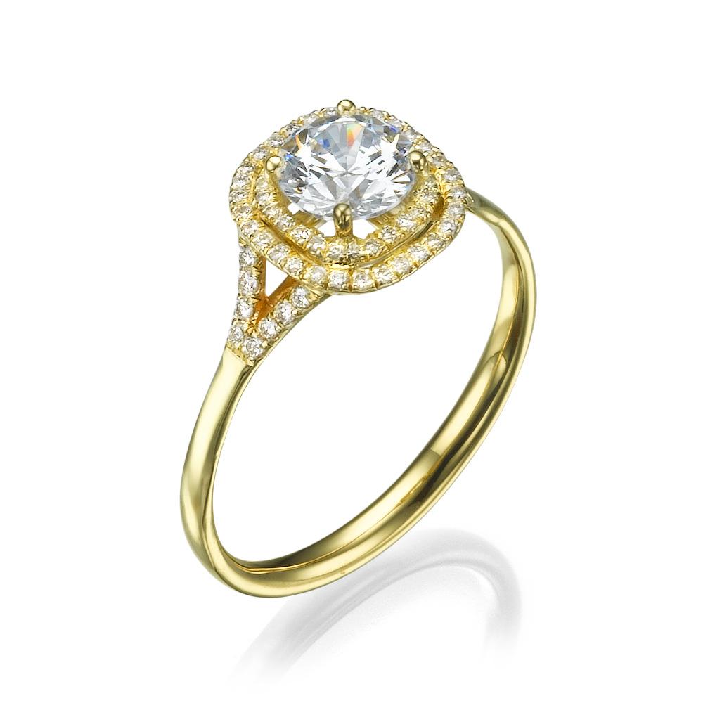 טבעת אירוסין מיוחדת ג'יזל