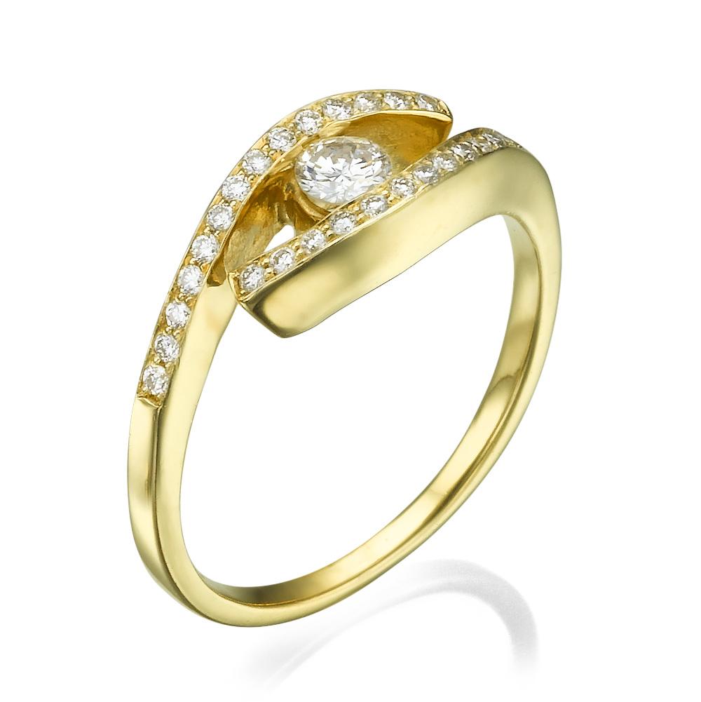 טבעת אירוסין מלכותית קליאופטרה
