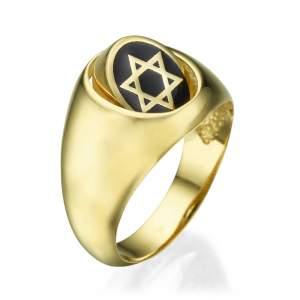 טבעת לגבר חותם מסתובב