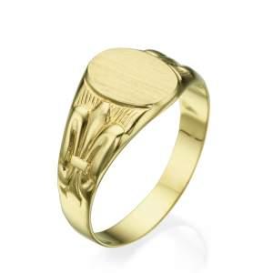 טבעת חותם דגם קינג