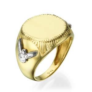 טבעת חותם דגם איגל
