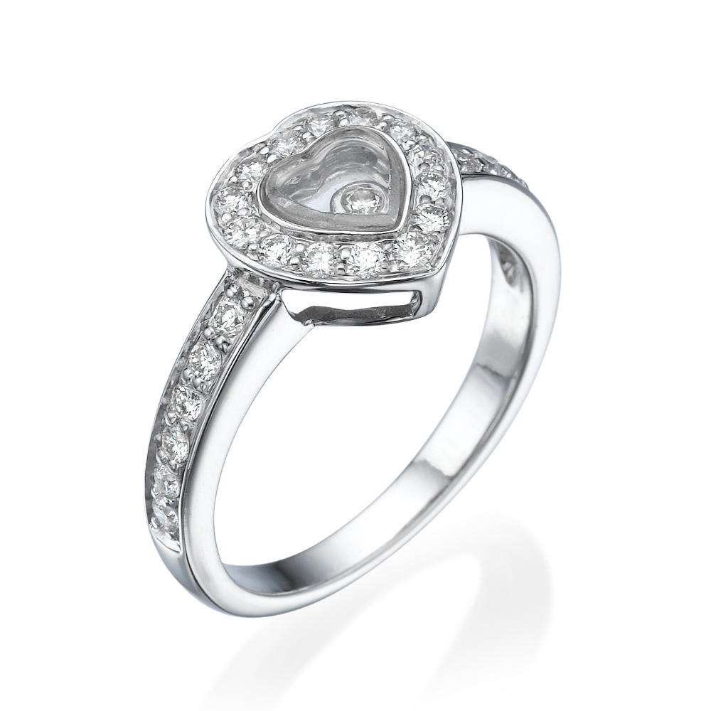 טבעת יהלומים לב היהלום