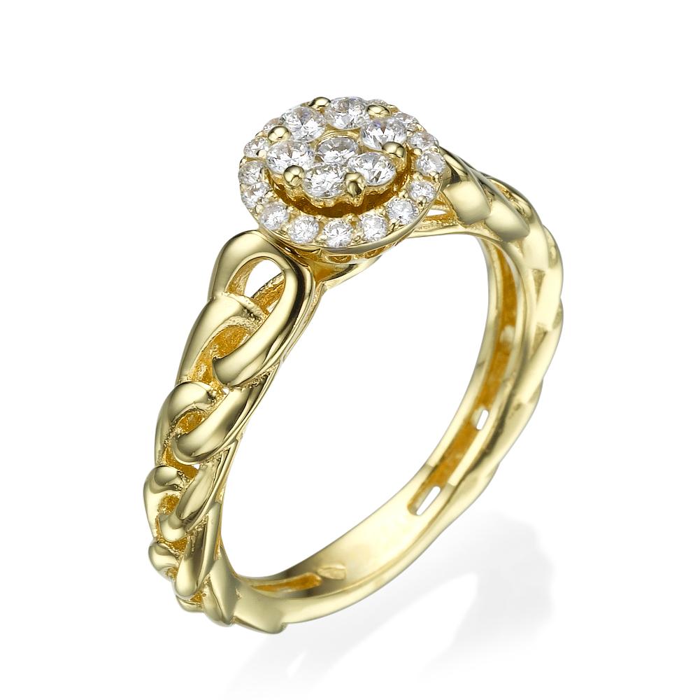 טבעת יהלומים מיוחדת לולאות של אושר