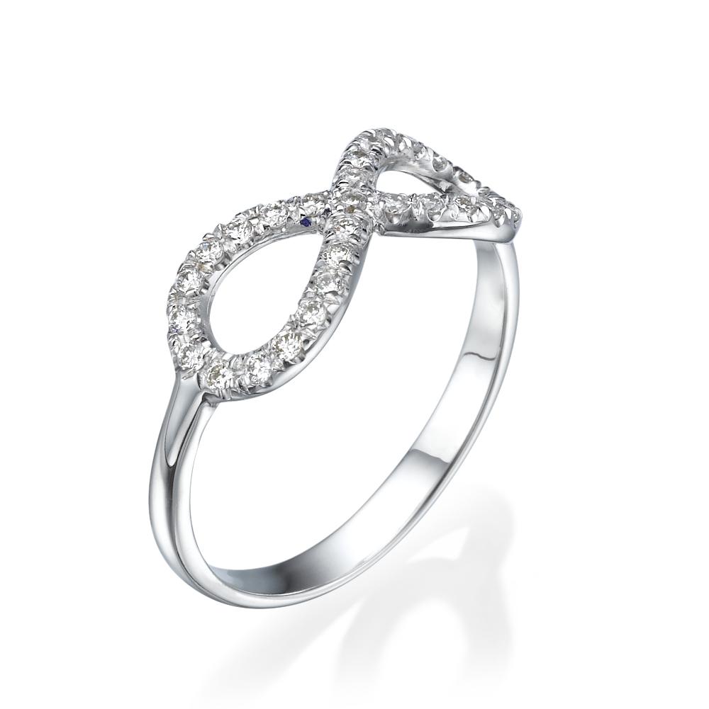טבעת יהלומים אינפינטי