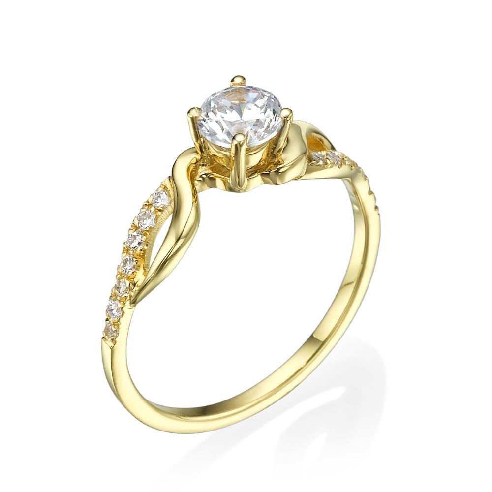 טבעת אירוסין מיוחדת דבש יהלומים