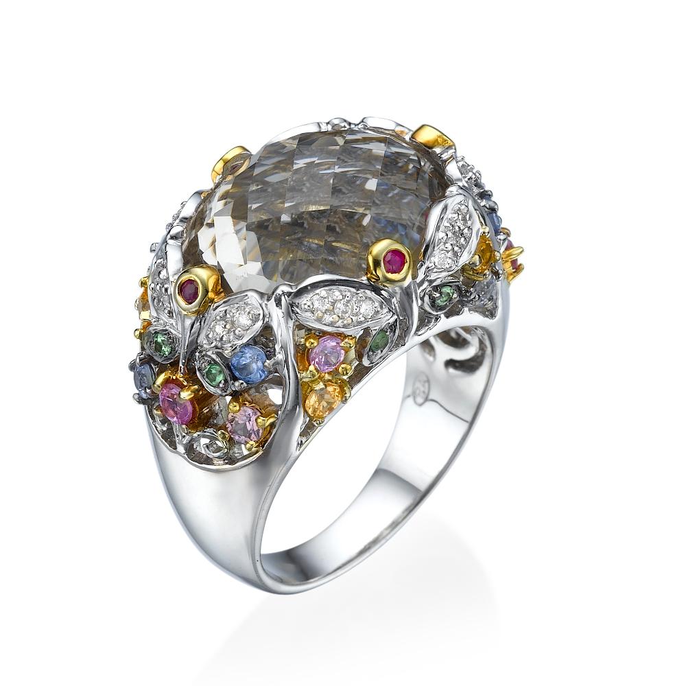 טבעת יהלומים אוסף אבני החן