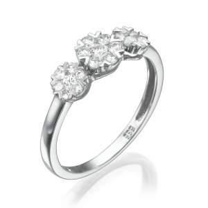 טבעת יהלומים מרשימה אמרייסין