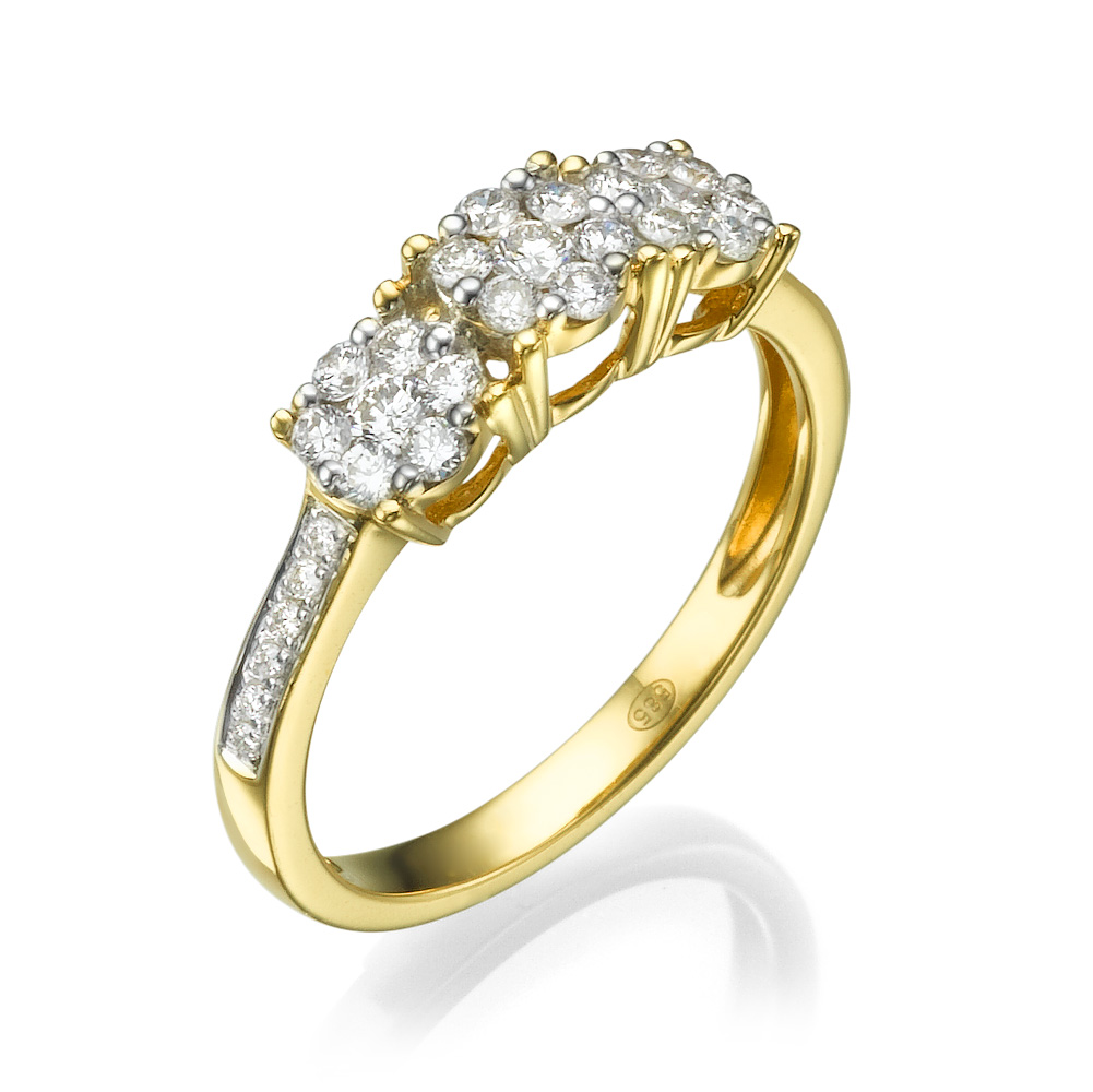 טבעת יהלומים זר הניצנים