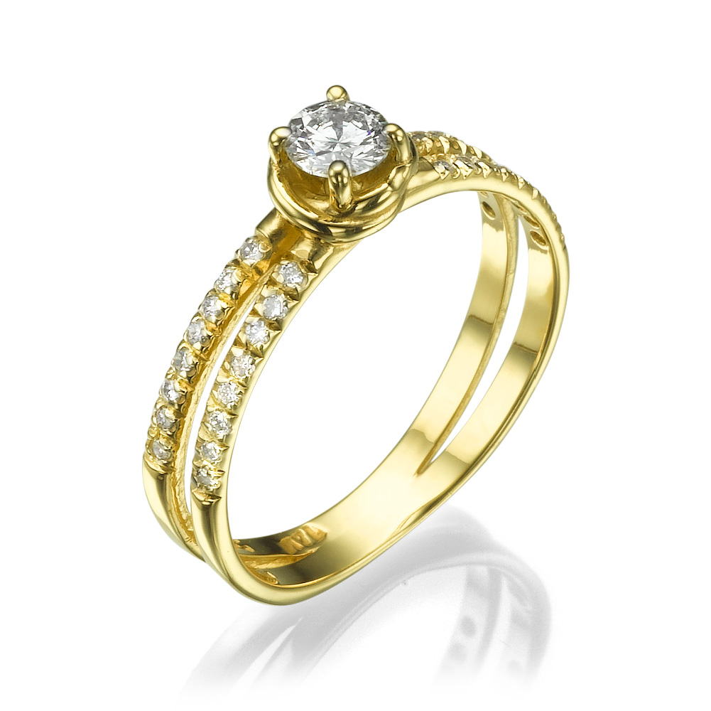 טבעת אירוסין קלאסית אנג'ליטה האלה