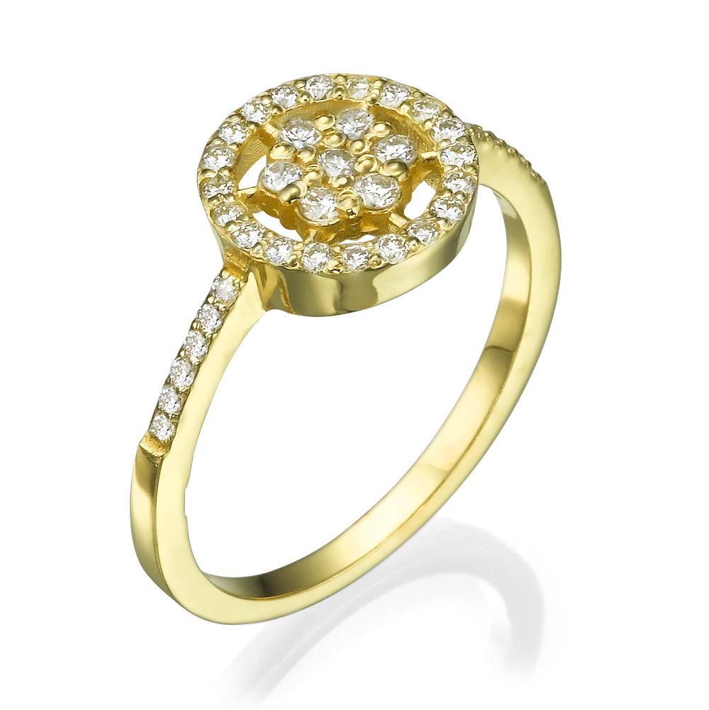 טבעת יהלומים עדינה פרח השלג