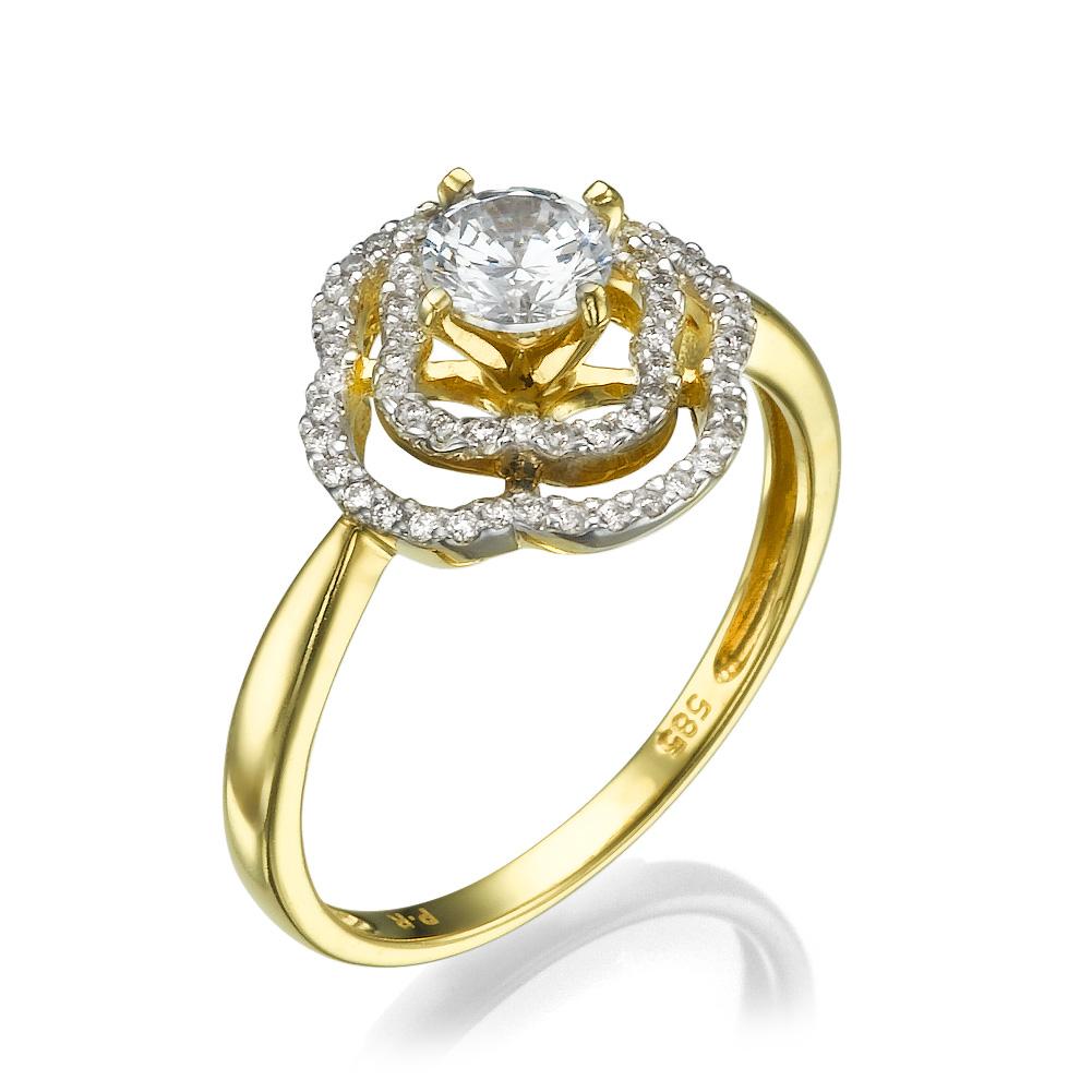טבעת יהלומים מיוחדת גולדן רוז