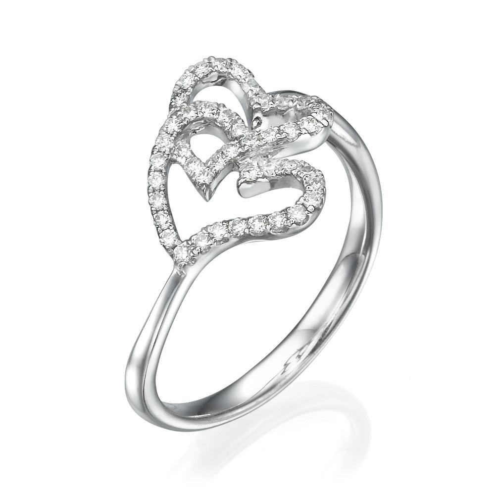 טבעת יהלומים אהבה כפולה
