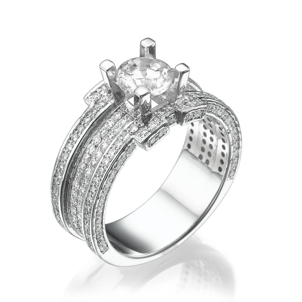 טבעת יהלומים וינטאג' סלין
