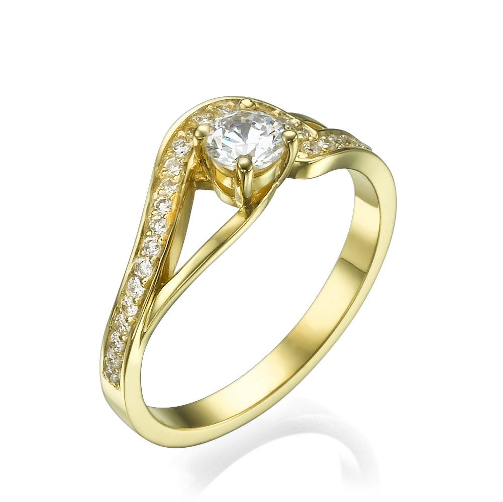 טבעת אירוסין עדינה אדווה