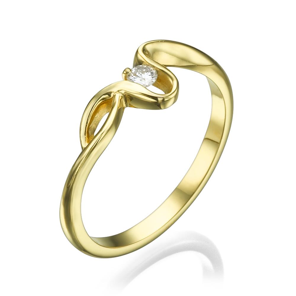 טבעת אירוסין יוקרתית המשי הזהוב