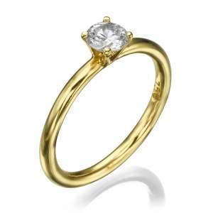 טבעת אירוסין יוקרתית יהלום השנהב