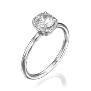 טבעת אירוסין עדינה אגמית