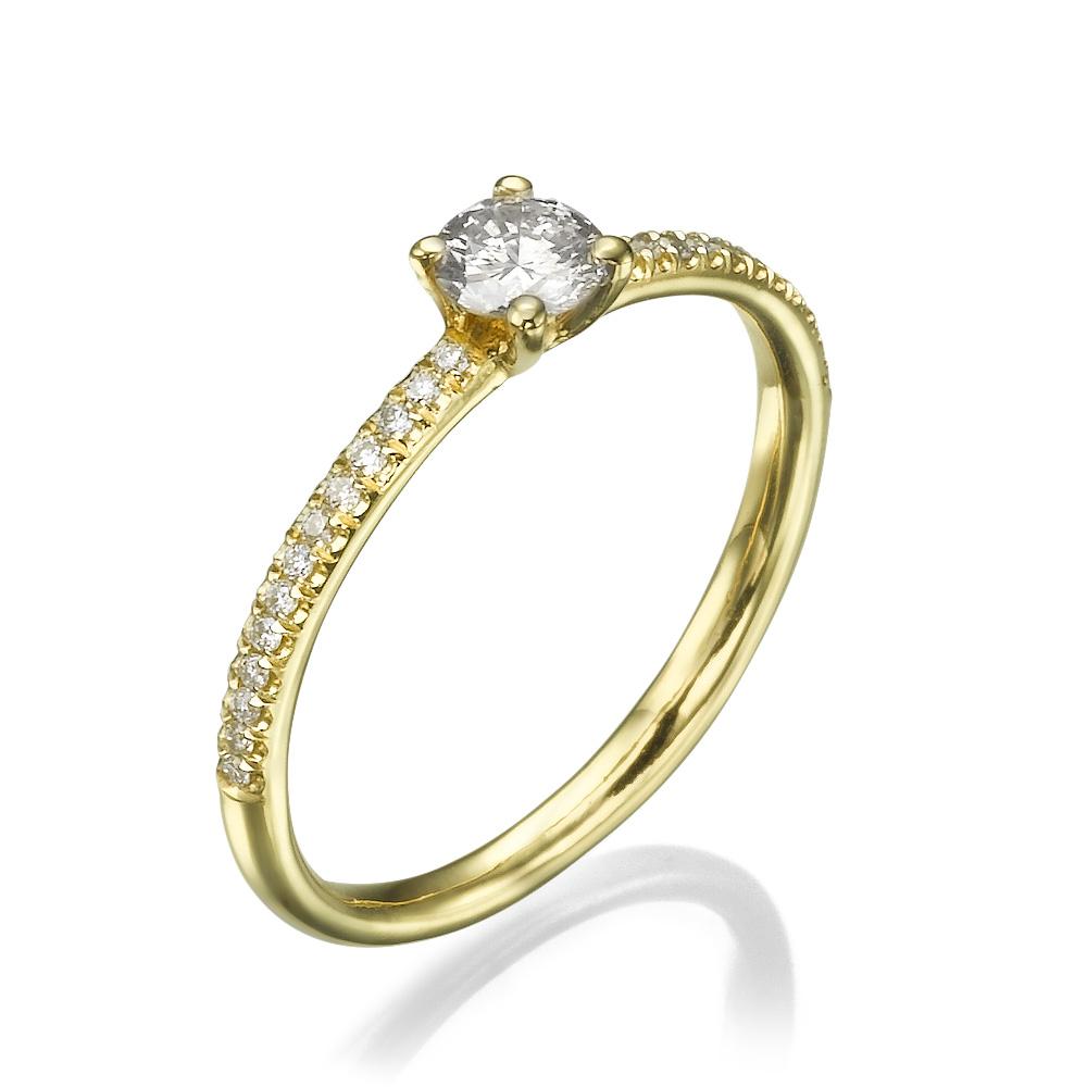 טבעת אירוסין קלאסית אנג'לה האלה