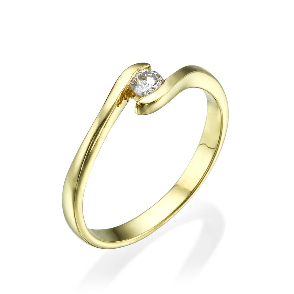טבעת אירוסין קלאסית ג'נטל דימונד