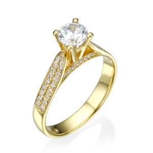 טבעת אירוסין קלאסית לוסיה