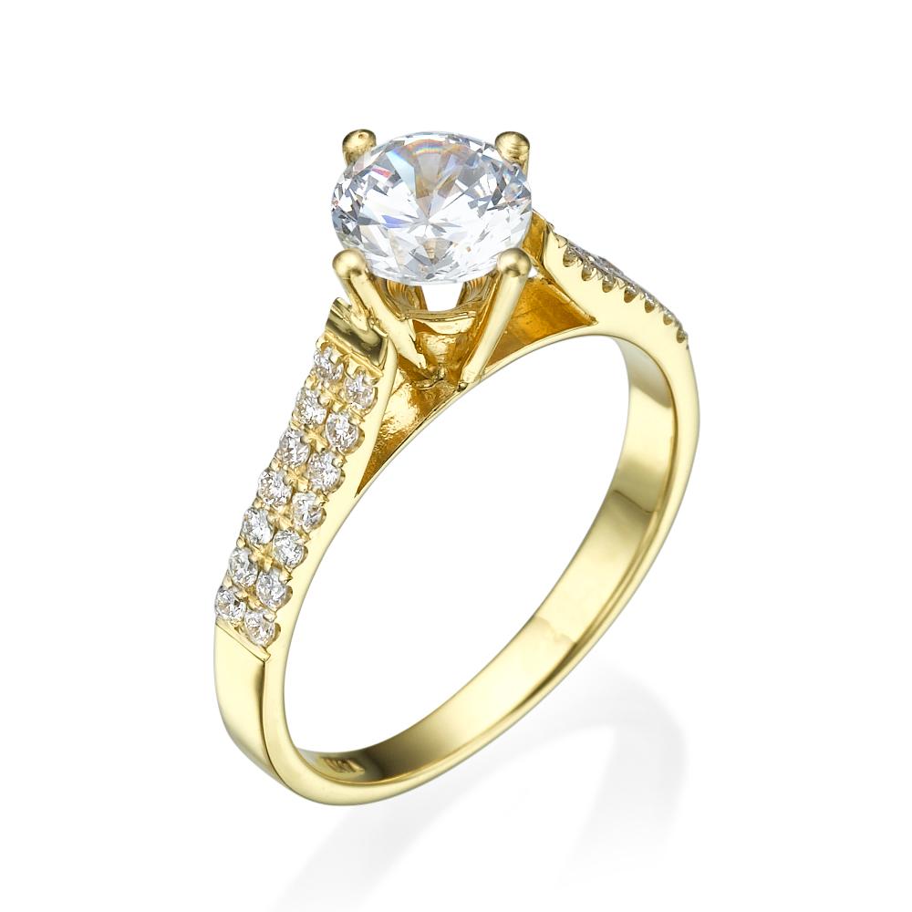 טבעת אירוסין קלאסית לטיסיה