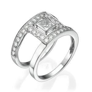 טבעת יהלומים מיוחדת פרינס אנד בוקס