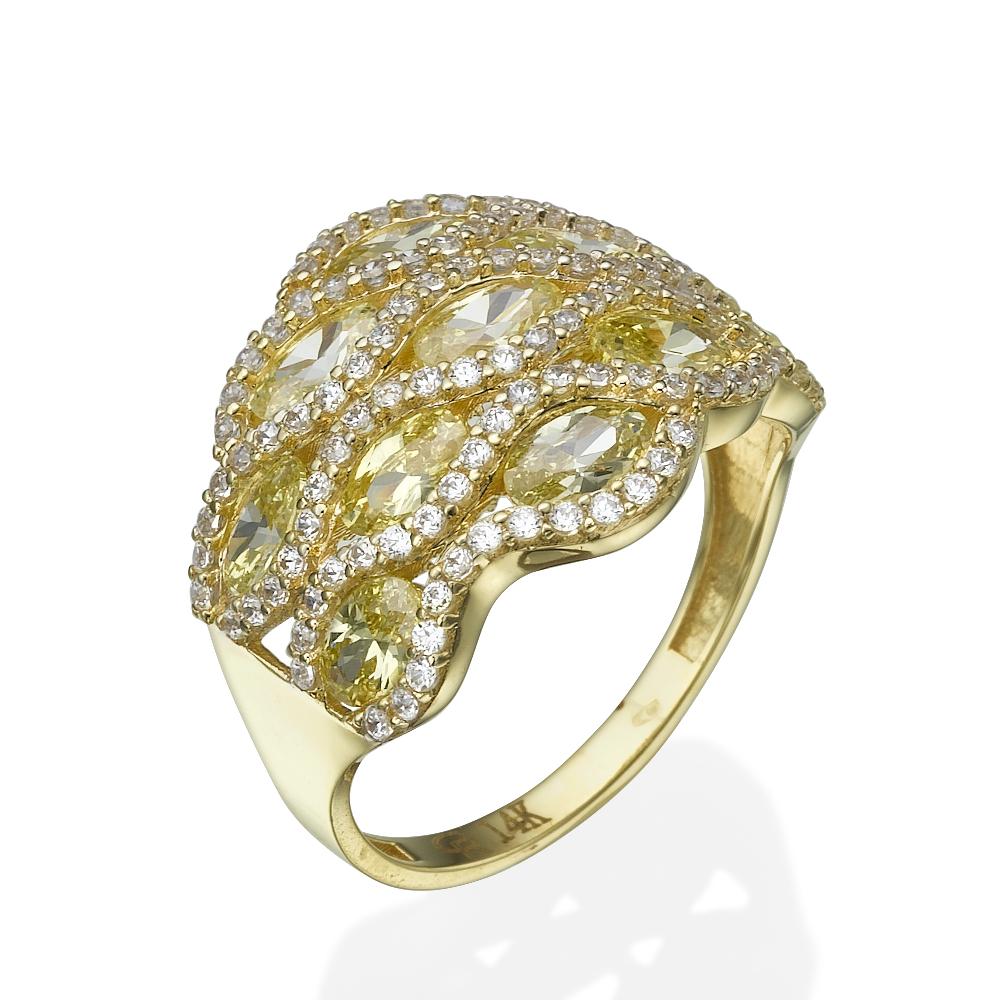 טבעת זהב כוורת דבש