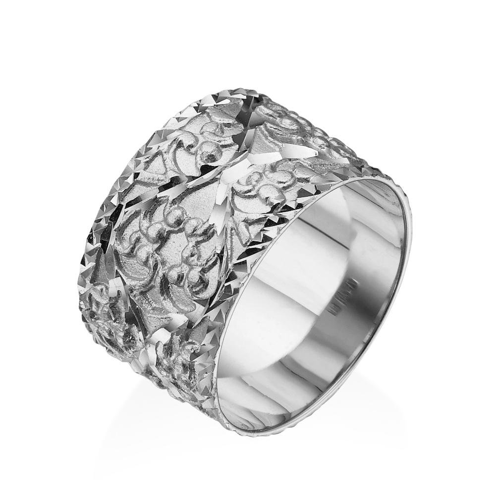 MA534 טבעת נישואין זהב לבן
