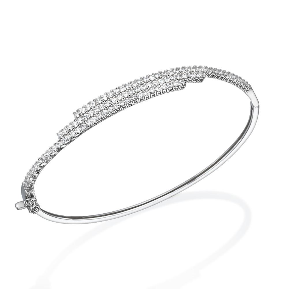 מגניב צמיד זהב לבן פרינסס | CR JV-94